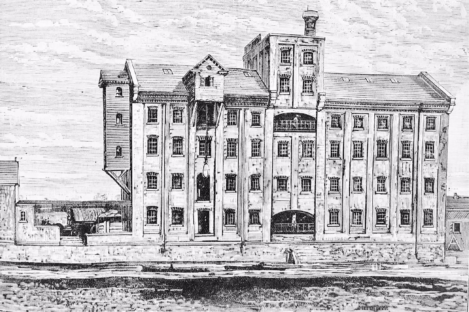JB Whitworth's new Victoria Roller Flour Mills at West Wellingborough Northamptonshire (Robinson System)
