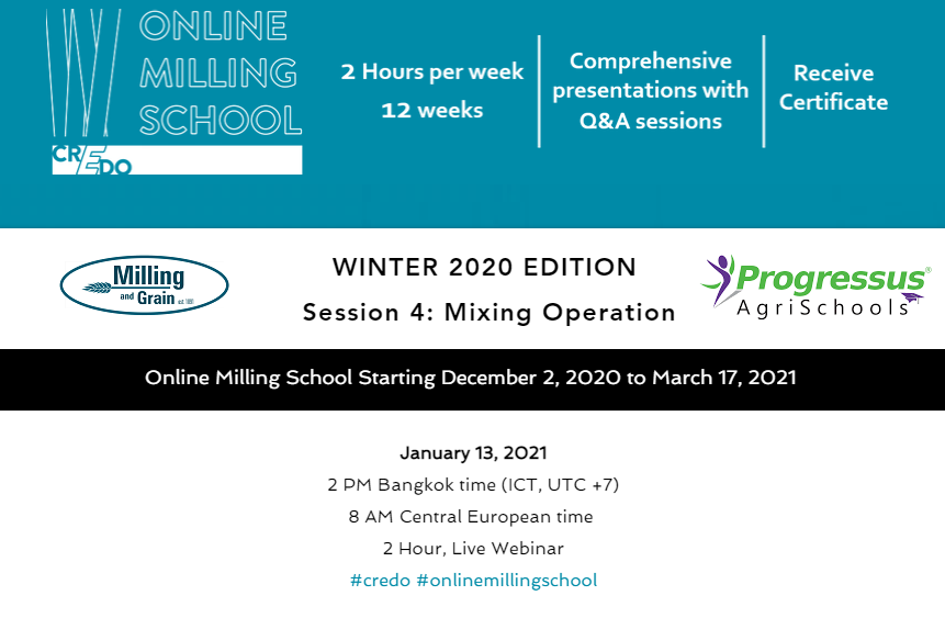 Online Milling School resumes January 13th with mixing operations session