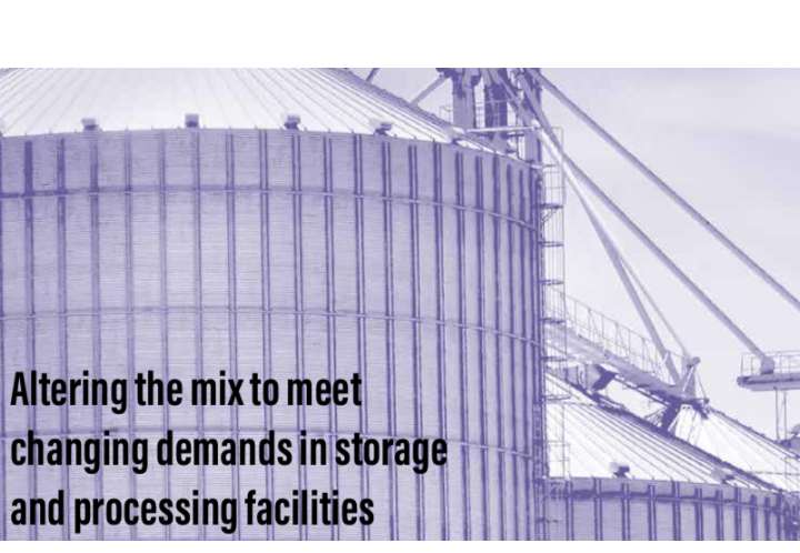 Altering the mix to meet changing demands in storage and processing facilities
