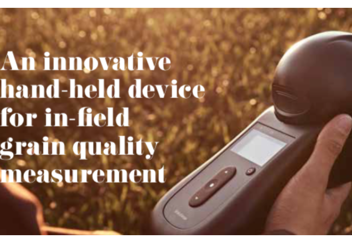 An innovative hand-held device for in-field grain quality measurement