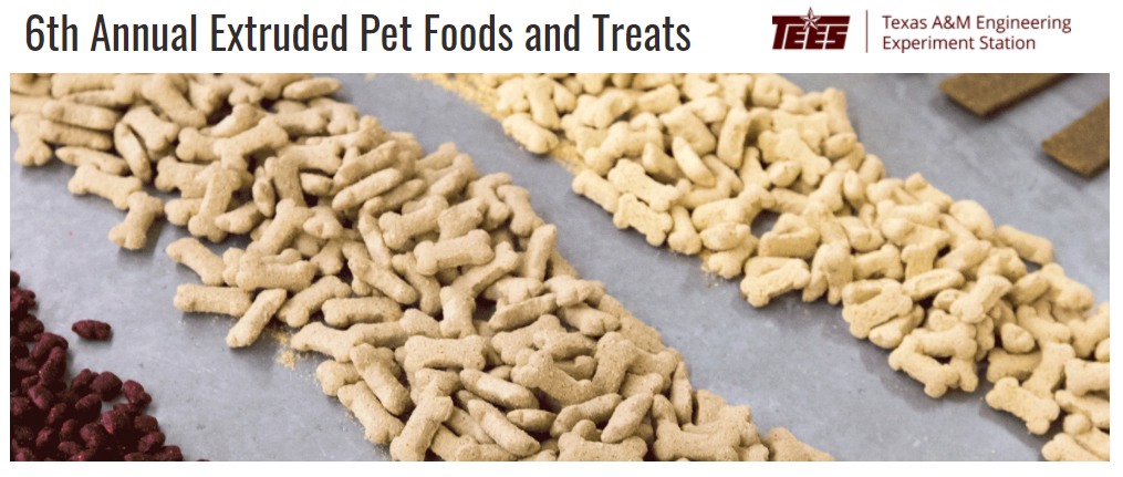 Texas A&M University announce online Extruded Pet Foods and Treats Practical Short Course