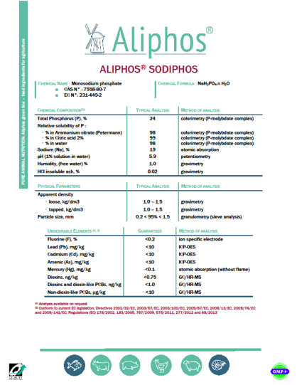 Aliphos® SodiPhos: A new derivative of Aliphos feed phosphates