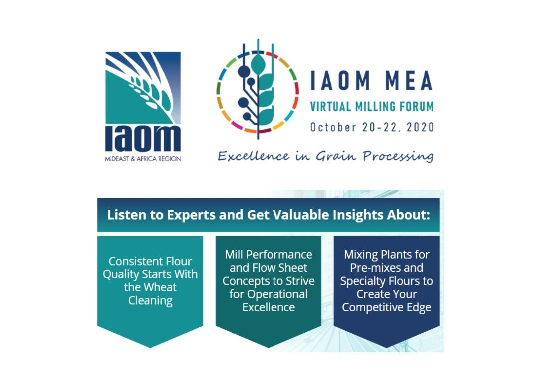 IAOM MEA Virtual Milling Forum 2020 begins this week