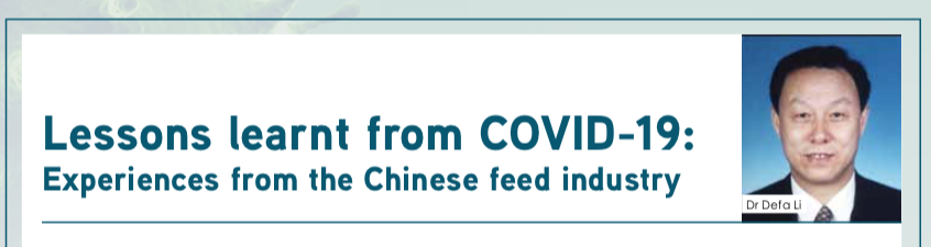 Lessons learnt from Covid-19 for the feed industry