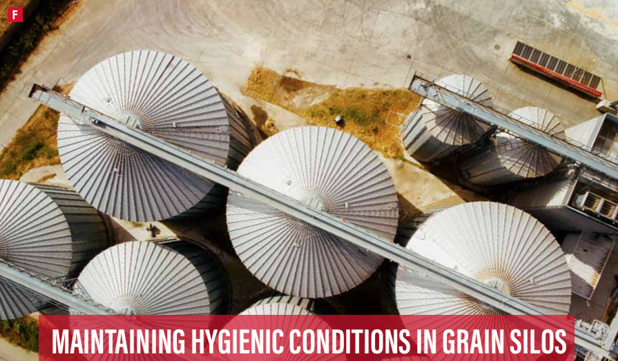 Maintaining hygienic conditions in grain silos